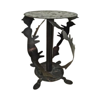 Style of Pucci DI Rossi Figural Cat Iron Table