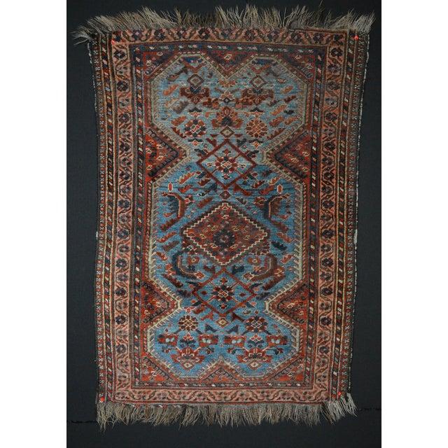 Antique Persian Khamseh Tribal Rug - 2′8″ × 3′9″ - Image 2 of 7
