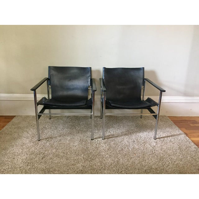 Charles Pollock for Knoll 657 Arm Chairs - A Pair - Image 9 of 11