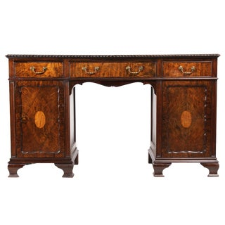 1930s Georgian-Style Executive Desk