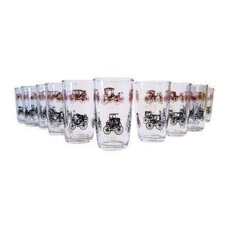 Gold & Black Carriage Tumbler - Set of 11