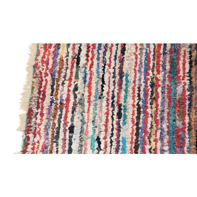 """Vintage Boucherouite Carpet - 7' X 4'1"""" - Image 2 of 3"""