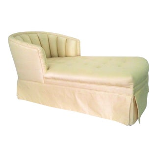 Vintage Silk Chaise Lounge
