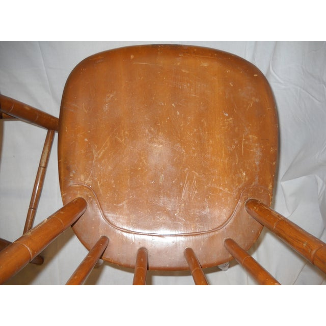Antique Traditional Wooden Chairs - A Pair - Image 6 of 6