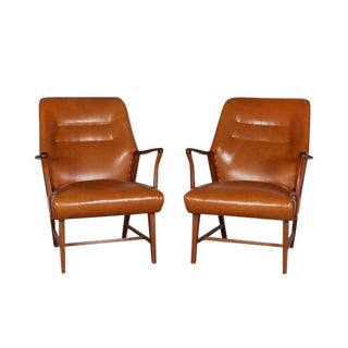 Leather Arm Chairs by Jacob Kjaer