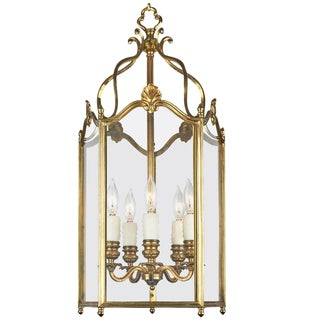 French Louis XV Style Gilt Brass Lantern