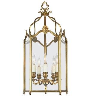 French Louis XV Style Gilt Brass Lantern