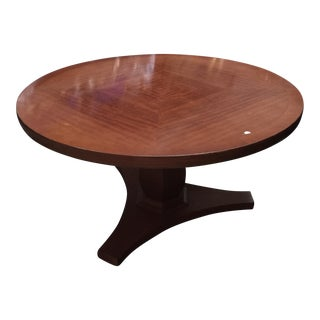 Pedestal Base Wooden Coffee Table