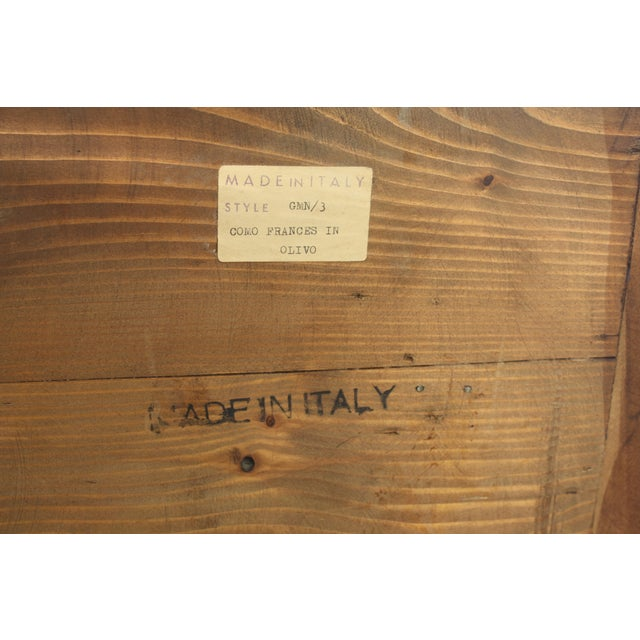 Image of Mid-Century Italian Olive Wood Commode