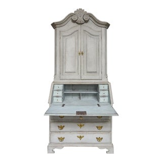 Two Part Baroque Secretary with Original Hardware (#62-48)