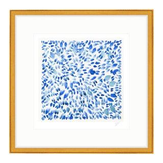 """Indigo Petals IV"" Watercolor Giclee Print"
