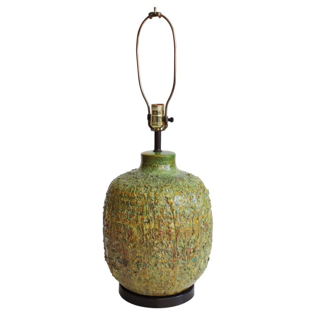 Chartreuse Volcanic Glaze Table Lamp - Image 1 of 6