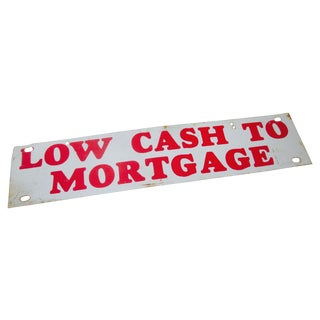 Low Cash Metal Enamel Industrial Sign