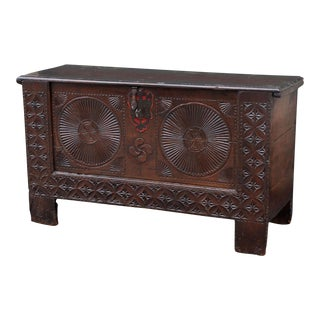 18th Century Carved Spanish Chest