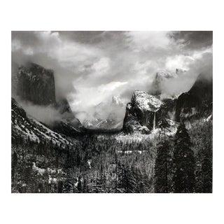 "Framed Ansel Adams ""Clearing Winter Storm"" Yosemite Valley Print"