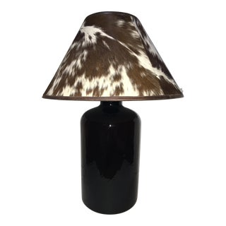 Glass Jug Lamp With Hide Shade