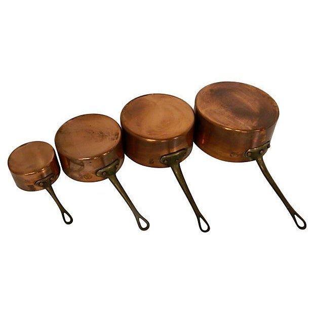 Metaux-Ouvres-Vesoul French Copper Pots - S/4 - Image 4 of 6