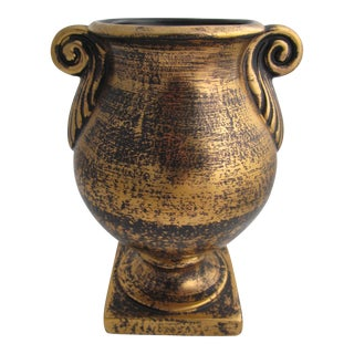 Stangl Black and Gold Urn