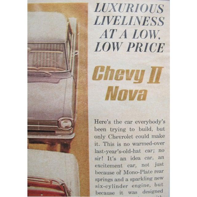 Image of Matted Advertisement - 1960s Chevy II Nova