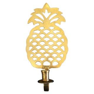 Vintage Large Brass Pineapple Sconce