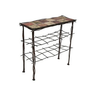 Iron & Tile Entry Table