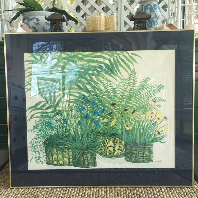 1970's Palm Beach Regency Artist Ida Pellei Botanical Gallery Framed Art - Image 2 of 11