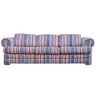 Mid-Century Boho Chic Striped Sofa