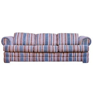 Mid-Century Boho Chic Striped Sofa