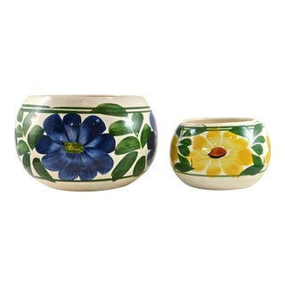 Hand-Painted Mexican Pots - A Pair