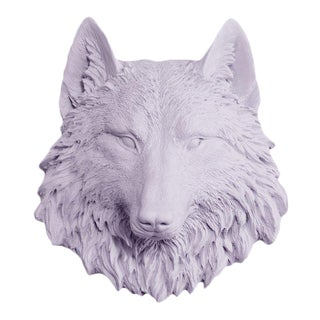 Wall Charmers Faux Taxidermy Mini Lavender Wolf Mount