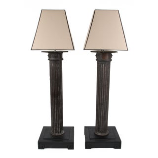 Antique French Lamp Post Floor Lamps - A Pair