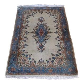 "Kerman Iran Wool Rug - 4'3"" x 6'"