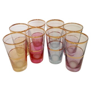 Mid Century Highball Glasses - Set of 8