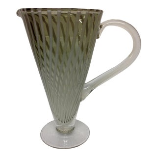 Murano Glass a Canna Cocktail Pitcher