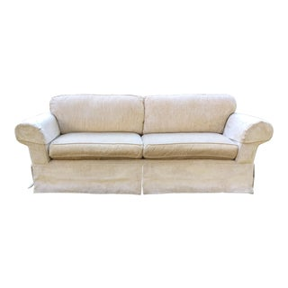 Pair of Restoration Hardware Grand Scale Roll Arm Sofas