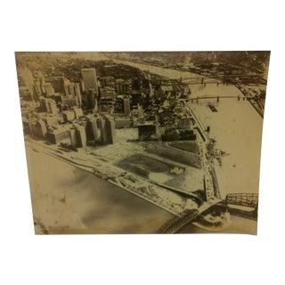 "Vintage Black & White Photograph ""Pittsburgh Point State Park"" Circa 1950"