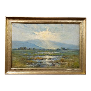 Manuel Valencia California Plein Air Landscape Oil Painting C.1900s