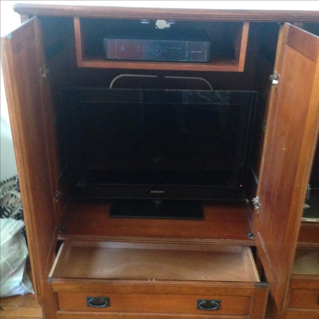 Wooden Entertainment Center - Image 5 of 6