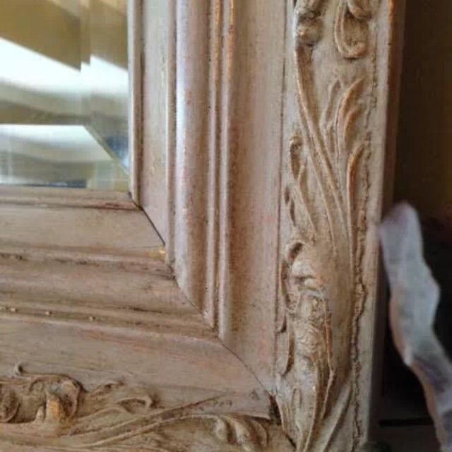 Ornate Wood Framed Beveled Mirror - Image 6 of 7