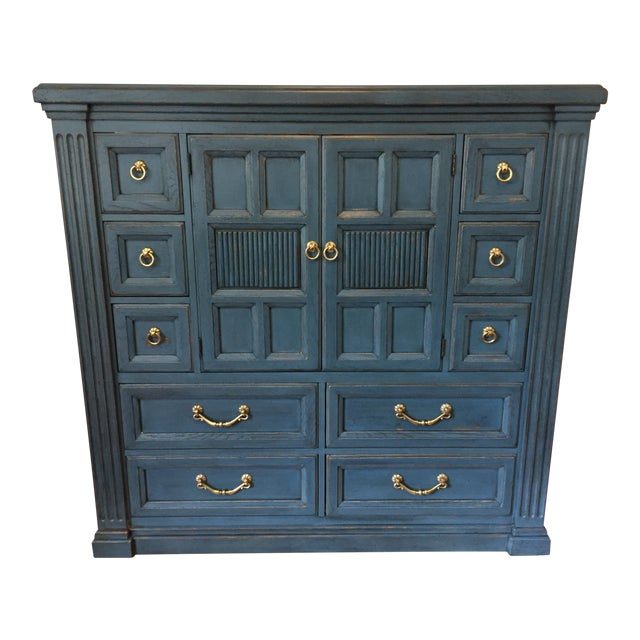 Drexel Heritage Blue Armoire - Image 1 of 11