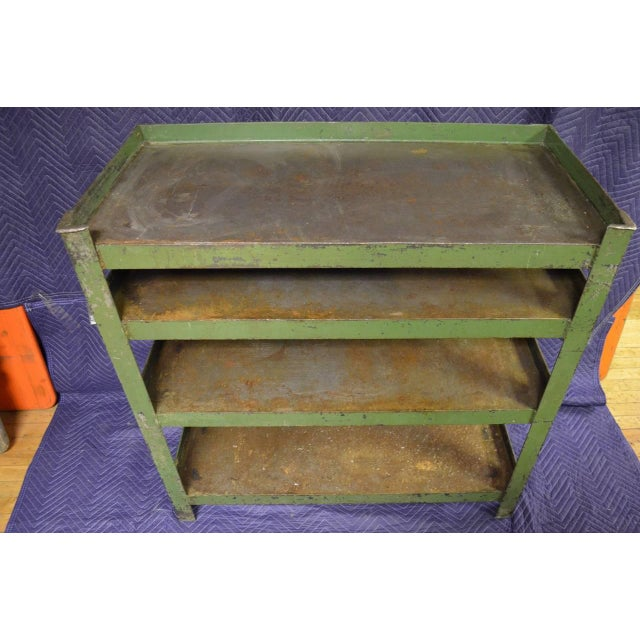 Industrial Steel Cart with Four Shelves - Image 5 of 8