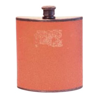 Vintage Leather Covered Flask