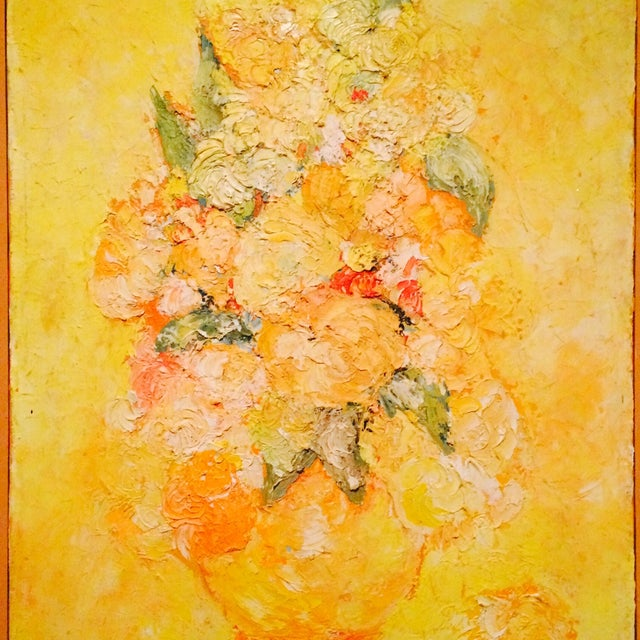 Floral Impressionist Painting Signed Bernheim - Image 4 of 8