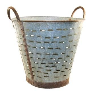 Vintage Olive/Harvest Bucket