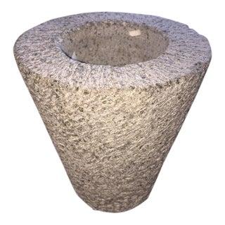 Textured Limestone & Resin Planter
