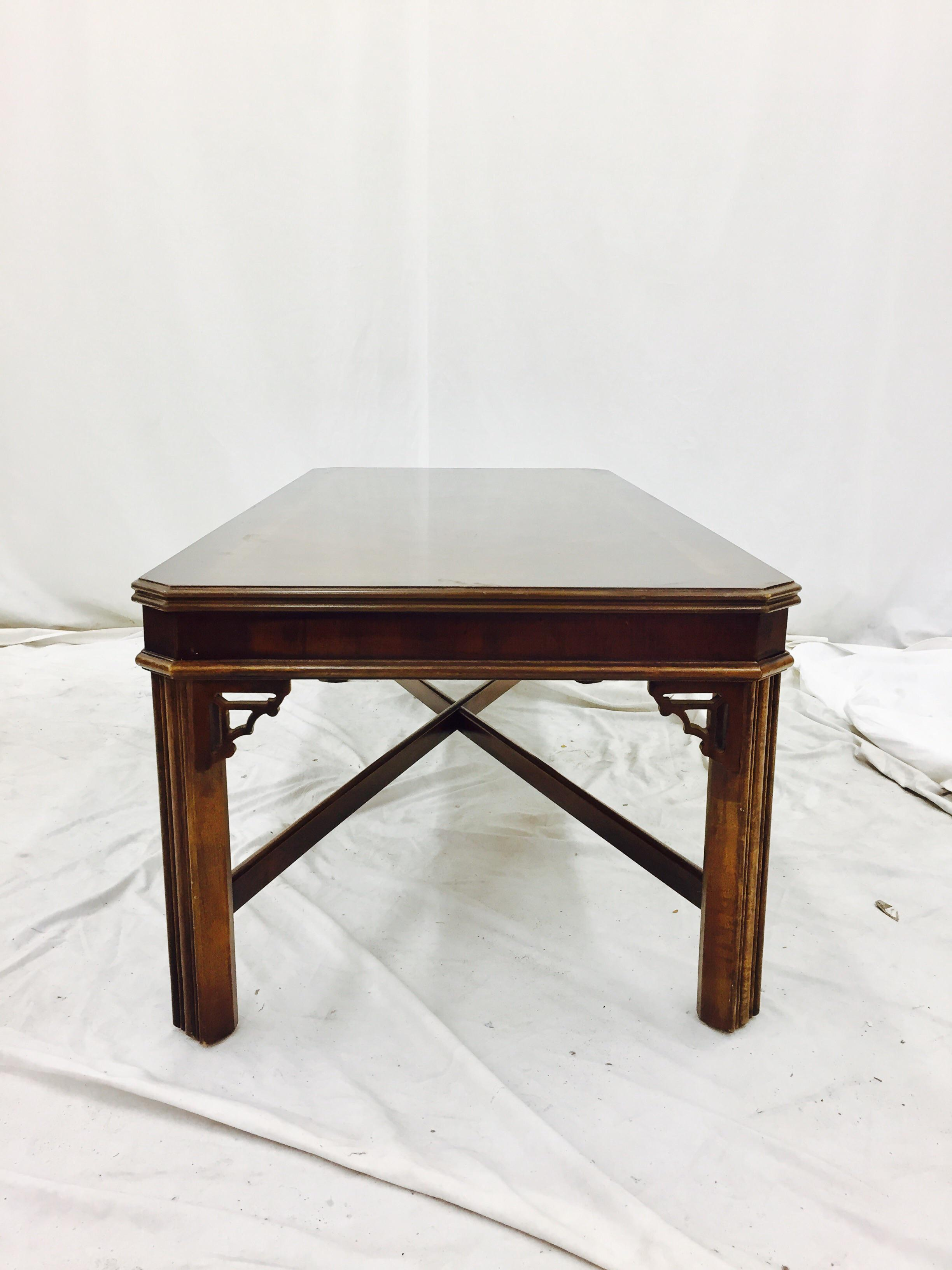 High Quality Vintage Lane Chinese Chippendale Coffee Table   Image 9 Of 10