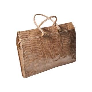 Vintage Moskowitz Snakeskin Briefcase Bag
