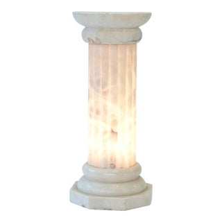 French Art Deco Alabaster Column