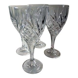 Tall Crystal Wine Glasses - Set of 4