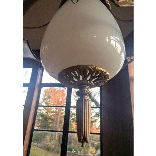 Mid Century Pendant Lamps - Pair - Image 10 of 11